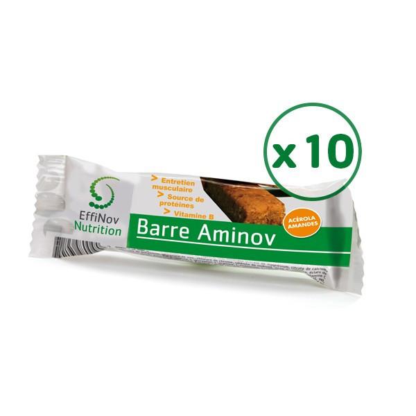 Barre protéinée Aminov lot de 10 barres