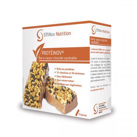 PROTEINOV Chocolat Cacahuète - 5 Barres