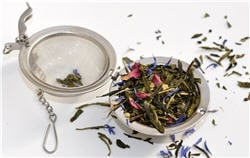 Boule à thé vert