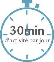 30 minutes d'activité par jour