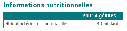 tableau nutritionnel Florinov